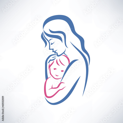 Mother And Son Vector Symbol Stock Image And Royalty Free Vector