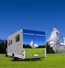 Wohnmobil mit Matterhorn