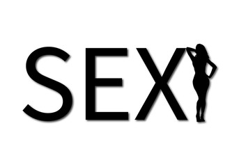 word sex and girl silhouette