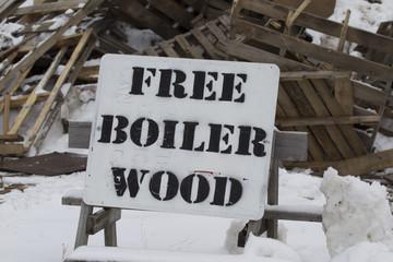 Free Boiler Wood Pallets