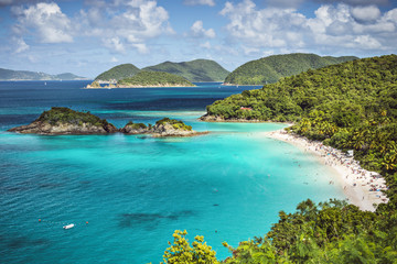 Wall Murals Caribbean Trunk Bay, St. John, United States Virgin Islands