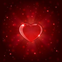 Red shiny heart