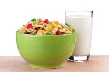 Cornflakes and milk