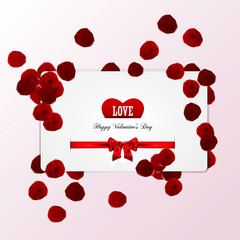 Valentine's card. Vector
