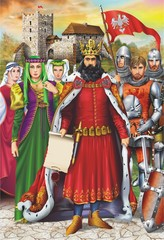 Medieval King and Retinue