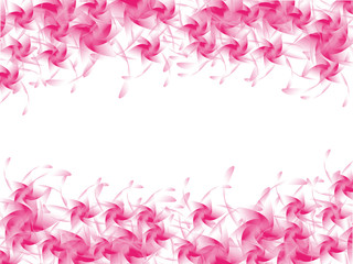 Background of pink  flower isolated on white