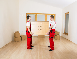 Movers in new house