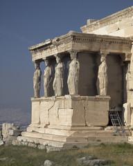 Caryatids women statues, erehtheion temple, Athens Greece