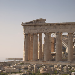 Parthenon ancient Greek temple, Acropolis of Athens