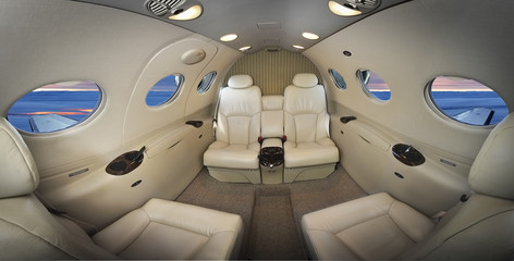 Interior of an executive plane