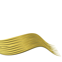 metal gold wave isolated on white