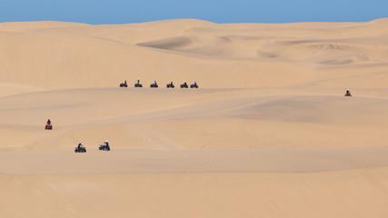 Quad tour in the desert in the Namib desert