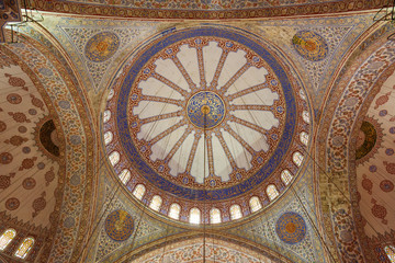 Interior of the Blue Mosque