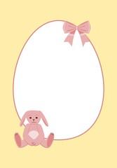 Happy easter pastel rabbit