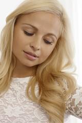 Beautiful daydreaming woman