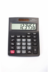 calculator isolated background
