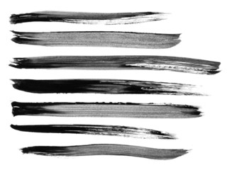 Collection of watercolor brush strokes