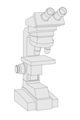 cartoon image of microscope tool