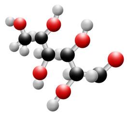 Illustration of a glucose molecule