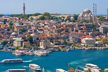 Aluminium Prints Turkey Golden Horn in Istanbul