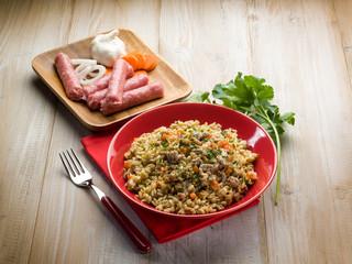 rice with sausage