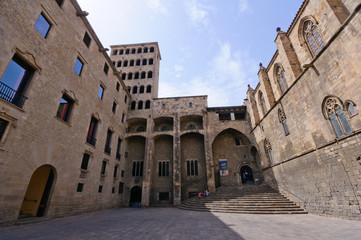 Plaça del Rei in Barcelona, Spain