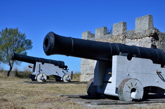 Cannons and magazine at Fort Frederica on Saint Simons Island