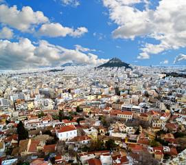 Fond de hotte en verre imprimé Athènes athens from Parthenon