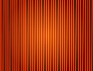 Curtain orange closed with light spots