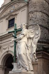 Karlskirche Anget Statue - Vienna