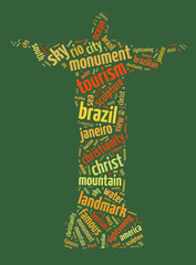 Words illustration of Christ the Redeemer statue in Brazil