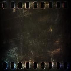 dark metal rusty grunge film strip background