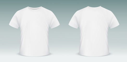 Blank T Shirt Template Front And Back Side