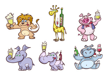 party animals drinking beer