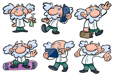 professor science vector set