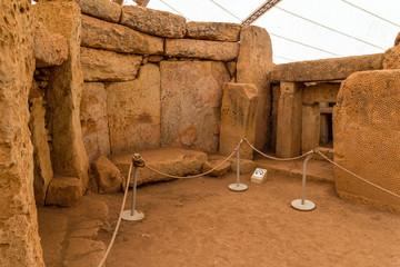 Chamber in Mnajdra temple in the Malta
