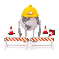 Globe construction build