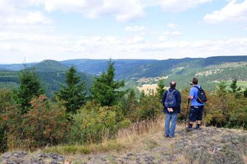 Wanderer im Thüringer Wald