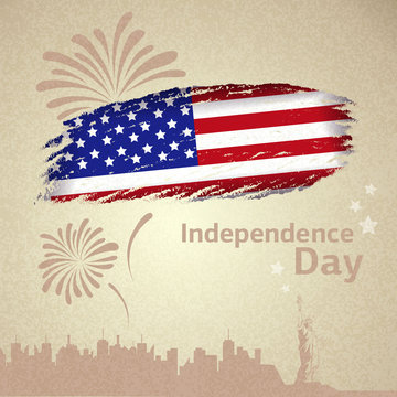 American flag. Independence day