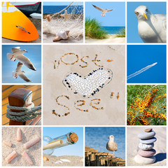 Fototapete - Collage mit Ostsee-Motiven