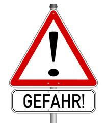 Vorsicht Achtung Gefahr Schild  #140121-svg21