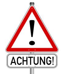 Vorsicht Achtung Gefahr Schild  #140121-svg19