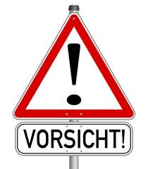 Vorsicht Achtung Gefahr Schild  #140121-svg18