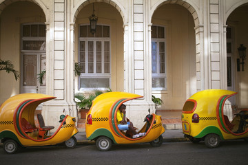 HAVANA, CUBA - JUNE 21: Vintage cars on the streets of Havana, J