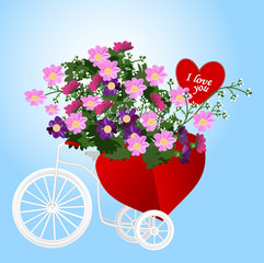 Tricycle with a flower basket