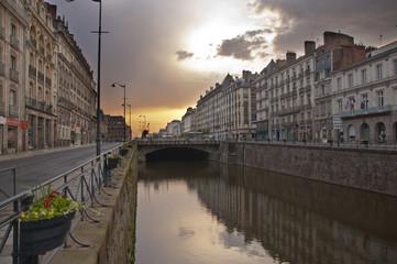 Rennes au coucher du soleil