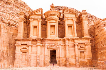 The Ad Deir in the ancient Jordanian city of Petra.