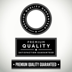 Set of vector premium quality badges