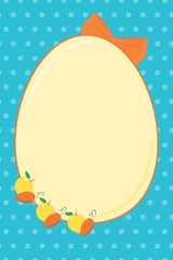 Hapy easter blue bright egg