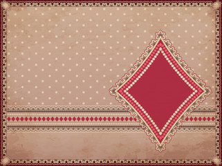 Casino old background with diamonds poker element